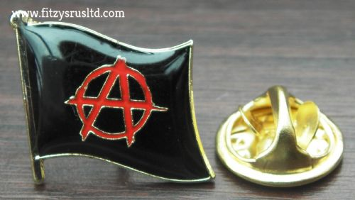 Anarchy Flag Lapel Pin Badge Anarchist Anarchism A Symbol Brooch